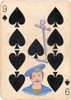 Art Prints of Playing Card, 9 of Spades, Vintage Game Pieces & Playing Cards