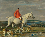 Art Prints of Whipper on a Grey Hunter by Alfred James Munnings