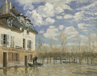 Art Prints of Boat in the Flood at Port Marly by Alfred Sisley