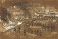 Art Prints of The Fight of the 17th of September, 1862 (21452L) by Alfred Waud