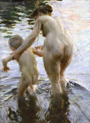 Art Prints of A First by Anders Zorn