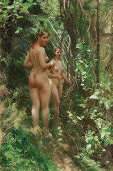 Art Prints of The Hinds, 1908 by Anders Zorn