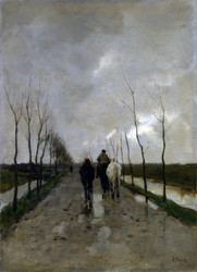 Art Prints of A Dutch Road by Anton Mauve