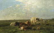 Art Prints of Cattle at Pasture by Anton Mauve