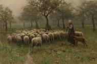 Art Prints of Shepherdess with Flock by Anton Mauve