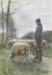 Art Prints of The Young Shepherd Boy by Anton Mauve