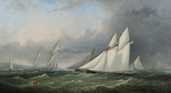 A Yacht Race on the Solent of Wight by Arthur Wellington Fowles