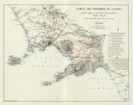 Art Prints of Carta de Contorni Di Napoli, 1845 (4714012) by J. Benedetto Marzolla