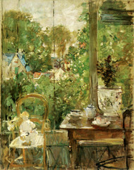 Art Prints of Doll on the Veranda by Berthe Morisot