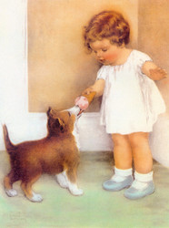 Art Prints of Mama Has Taught Her to be Generous by Bessie Pease Gutmann