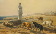 Art Prints of Pallas Athena and the Herdsman's Dogs by Briton Riviere