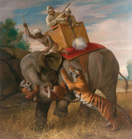 Art Prints of Tiger Hunting by Briton Riviere