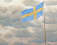 Art Prints of Swedish Flag by Bruno Liljefors