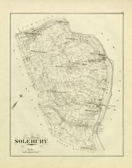 Art Prints of Bucks County Map Solebury, Bucks County Vintage Map