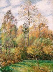 Art Prints of Autumn Poplars, Eragny by Camille Pissarro