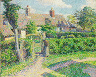 Art Prints of Peasants Houses, Eragny by Camille Pissarro