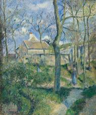 Art Prints of The Path to Les Pouilleux, Pontoise by Camille Pissarro