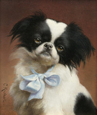 Art Prints of Japanese Chin by Carl Reichert