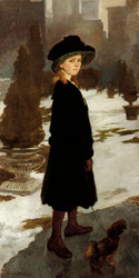 Art Prints of Alice Davison in Central Park by Cecilia Beaux