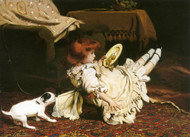 Art Prints of A Mischievous Puppy by Charles Burton Barber