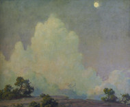 Art Prints of Evening Cloud and Rising Moon by Charles Courtney Curran