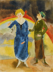 Art Prints of In Vaudeville, Comediennes by Charles Demuth