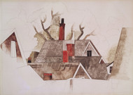 Art Prints of Red Chimneys by Charles Demuth