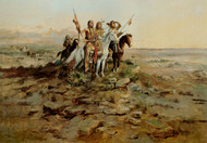 Art Prints of Approach of the White Men by Charles Marion Russell