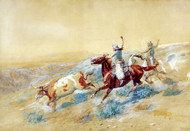 Art Prints of Buckaroos on the Big Dry in Montana by Charles Marion Russell