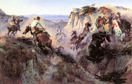Art Prints of Wild Horse Hunters, No. 2 by Charles Marion Russell