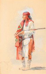 Art Prints of Apache Warrior by Charles Marion Russell