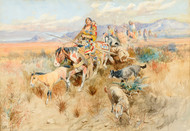 Art Prints of In the Wake of a Cree Hunting Party, 1895 by Charles Marion Russell