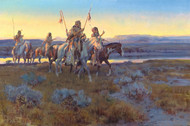 Art Prints of Piegans by Charles Marion Russell