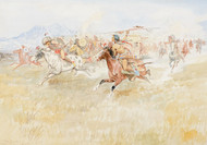 Art Prints of The Battle Between the Blackfeet and Piegans by Charles Marion Russell