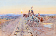 Art Prints of Trail of the Iron Horse, 1924 by Charles Marion Russell