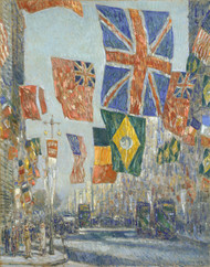 Avenue of the Allies, Great Britian by Childe Hassam