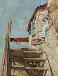 Art Prints Of The Stairs By Childe Hassam