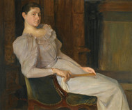 Art Prints of Girl in White by Christian Krohg