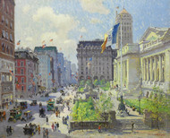 New York Public Library by Colin Campbell Cooper