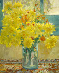 Yellow Chrysanthemums by Colin Campbell Cooper