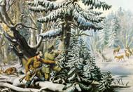 Art Prints of American Winter Sports, Deer Shooting by Currier & Ives