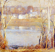 Art Prints of River Border, Frenchtown by Daniel Garber