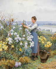 Art Prints of Chrysanthemums by Daniel Ridgway Knight