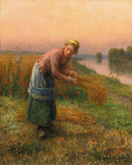 Art Prints of The Gleaner by Daniel Ridgway Knight