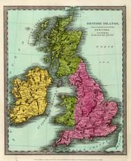Art Prints of British Islands, 1835 (4628006) by David H. Burr