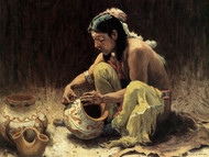 Art Prints of The Pottery Decorator by Eanger Irving Couse