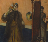 Art Prints of At the Milliners by Edgar Degas