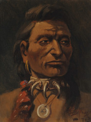 Art Prints of Young Chief Charlo by Edgar Samuel Paxson