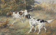 Art Prints of A Pointer and a Setter by Edmund Henry Osthaus
