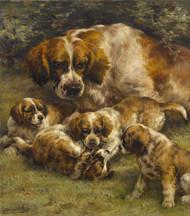 Art Prints of Setter Litter by Edmund Henry Osthaus